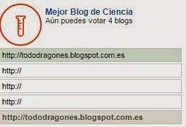 Mejor Blog de Ciencias premios Bitacoras 2014
