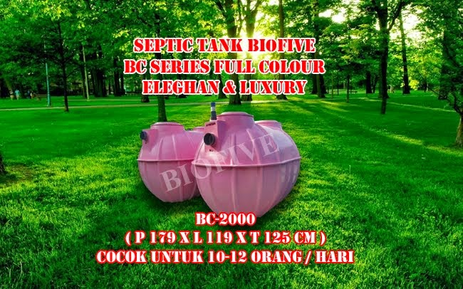 NEW ! SEPTIC TANK BIOFIVE BC-SERIES( PINK )