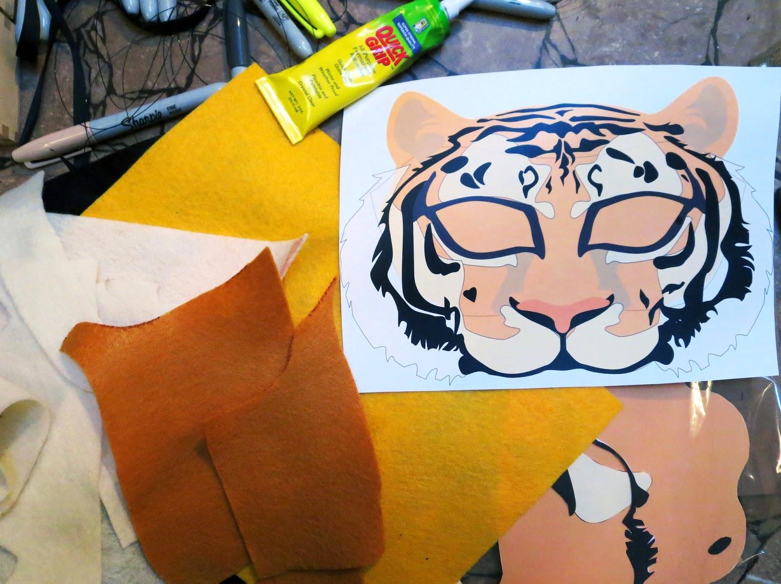 DIY Felt Tiger Mask