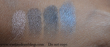 urban decay naked palette swatches Toasted Hustle Creep Gunmetal