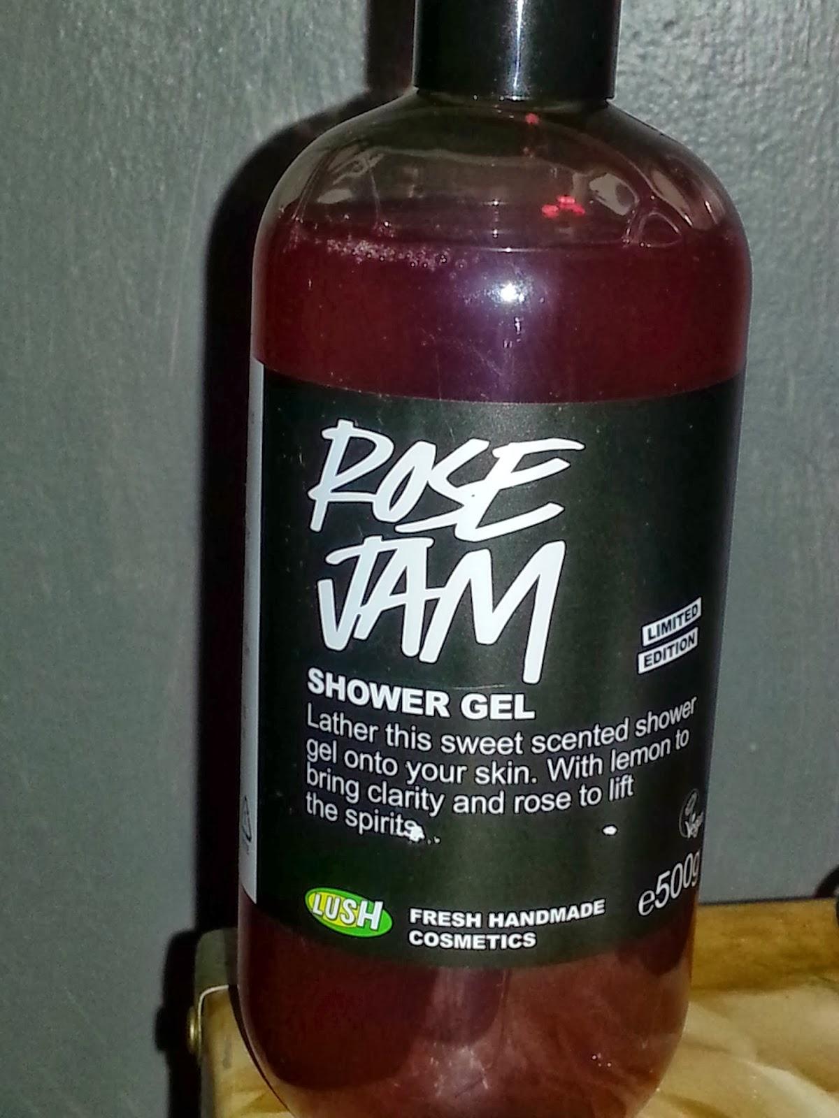 KimZeman Lush Cosmetics Rose Jam Shower Gel