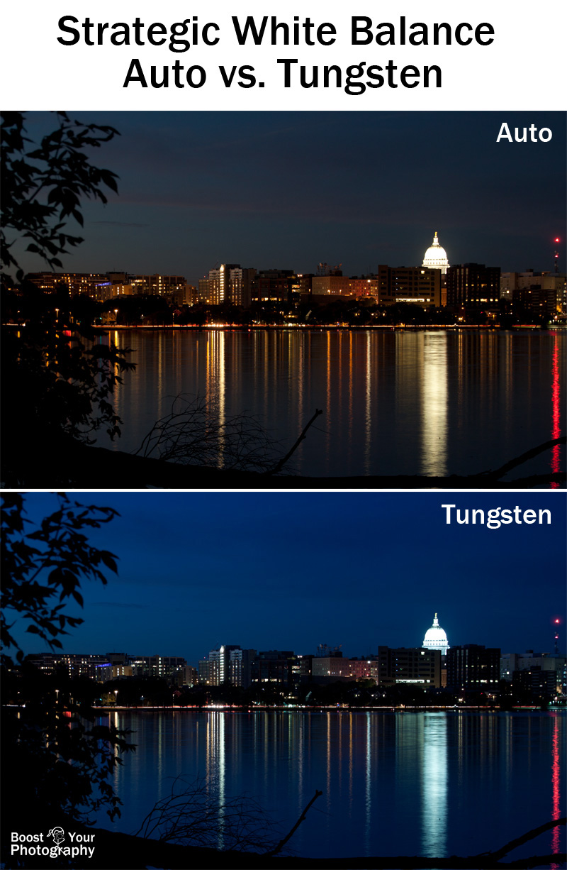 Strategic White Balance: auto vs. tungsten | Boost Your Photography