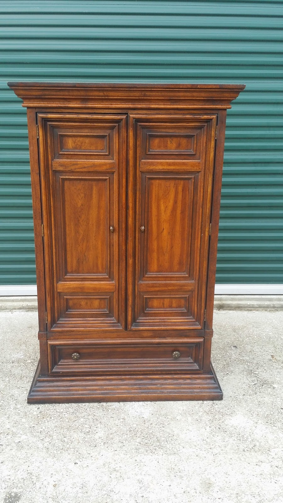 Piece Of Candy Furniture: Red Distressed Armoire....