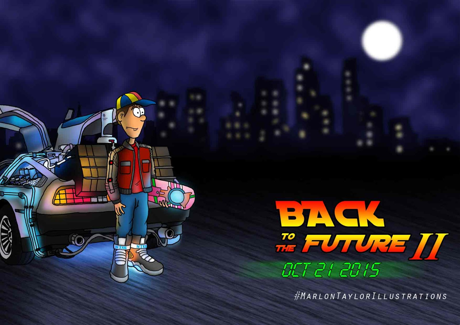 Brown travel into in back to the future 2 the date is oct 21st 2015