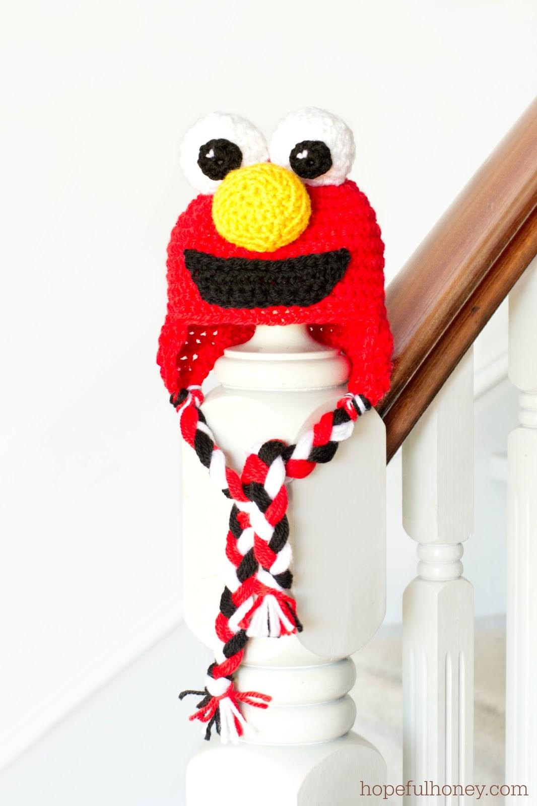 Free Crochet Patterns For Elmo Hat : Hopeful Honey Craft, Crochet, Create: Sesame Street Elmo ...