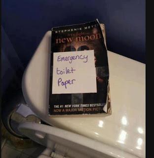 Twilight bog som toiletpapir