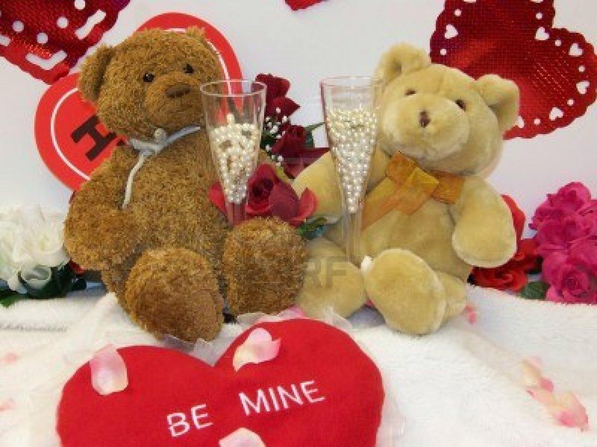 Happy Valentines Day Teddy Bears Valentine Jinni