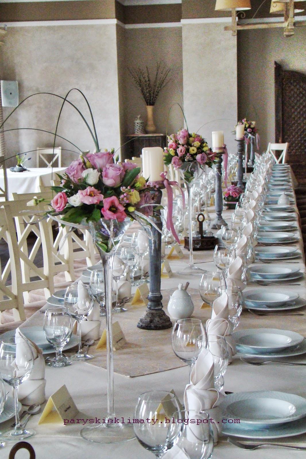 Paryskie Klimaty Pracownia Pastelowe Dekoracje ślubne Dekoracje