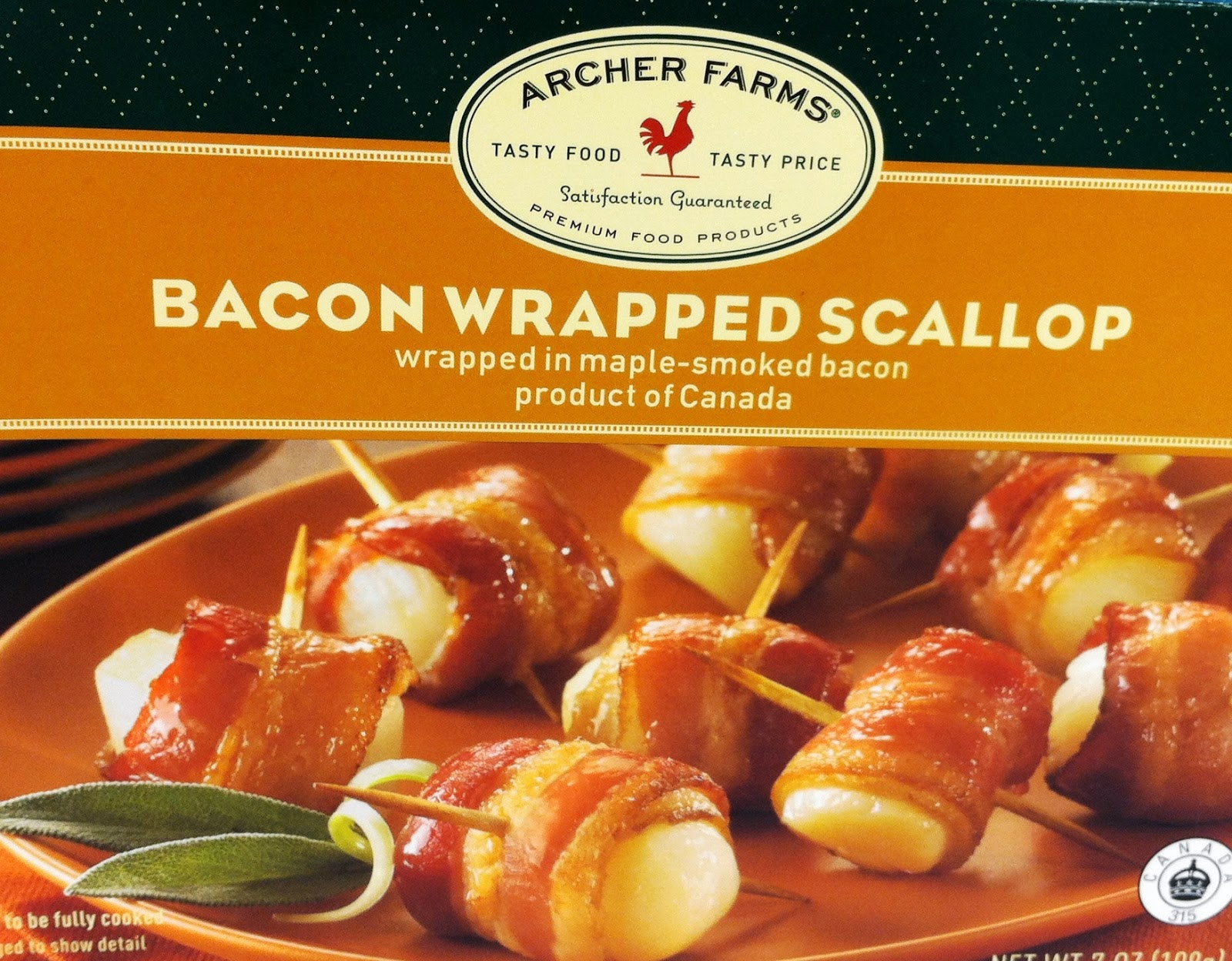 What To Get: A Box (or More) Or Archer Farms Bacon Wrapped Scallops Where  To Get It: Target Frozen Food Section