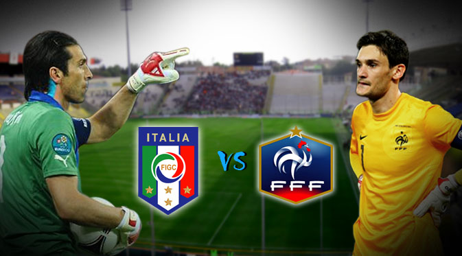 Italia vs Prancis Friendly Match
