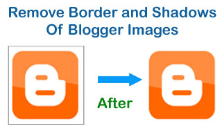 Remove Image Shadow From Blogger