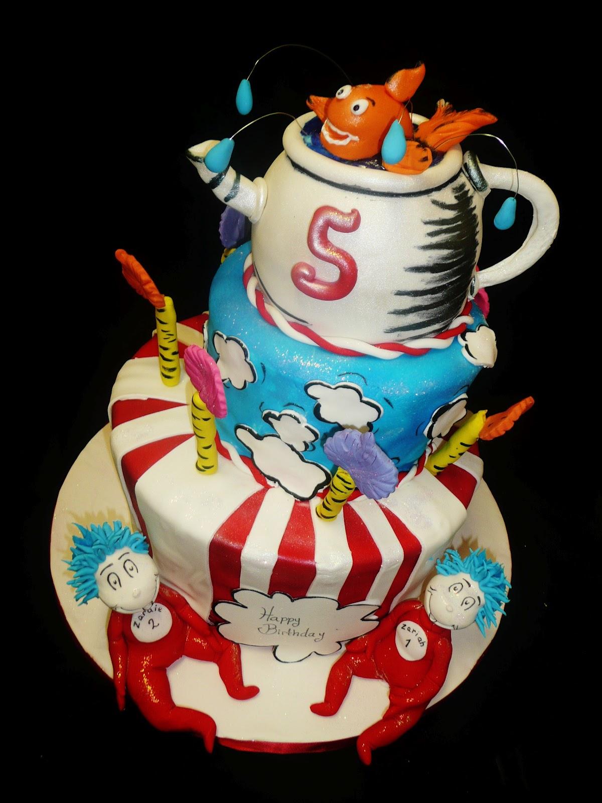 Baking With Roxanas Cakes Dr Seuss Themed Birthday Cake