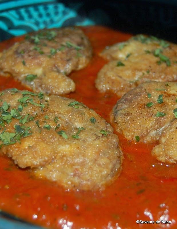 Cervelle d 39 agneau pan e la sauce tomate - Comment cuisiner la cervelle d agneau ...
