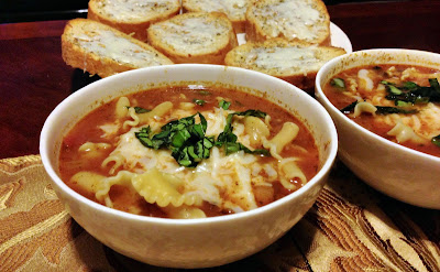 Recipe: Delicious and easy lasagna soup