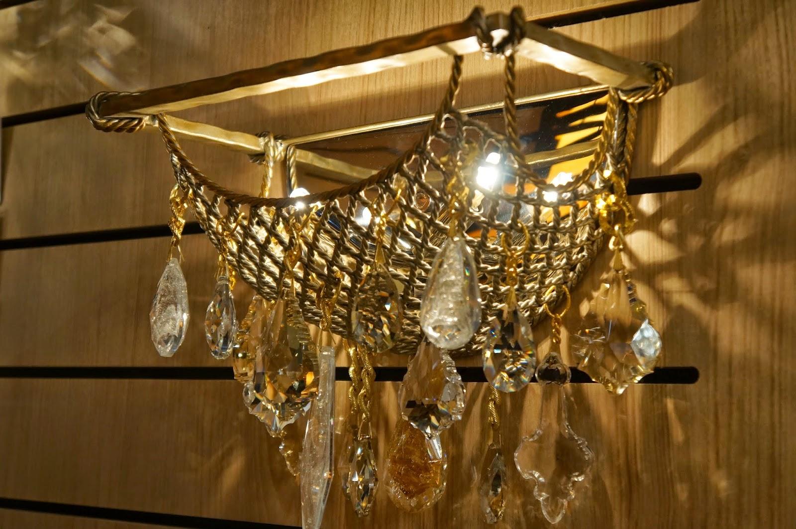 arandela Barcelona de ferro forjado à mão - Corbett Lighting - Expolux 2014