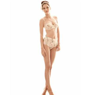 Kendall Jenner in a high maillot flower bikini