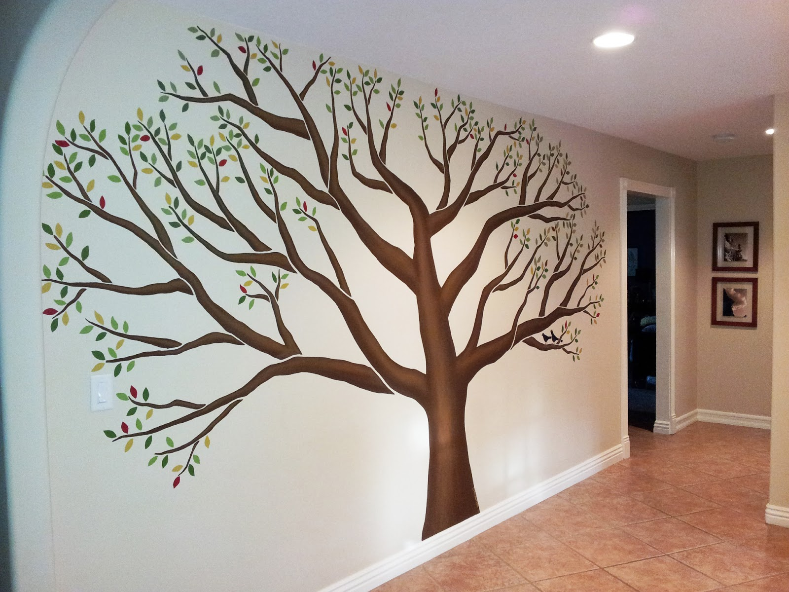 l star murals family tree mural in mudroom of corona ca large tree wall decals trees decal nursery tree wall decals