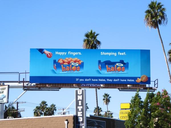 Halos Happy Fingers Stomping feet billboard