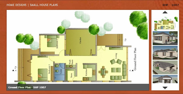 Ground Floor Plan of Small House Plan  SHP 1007