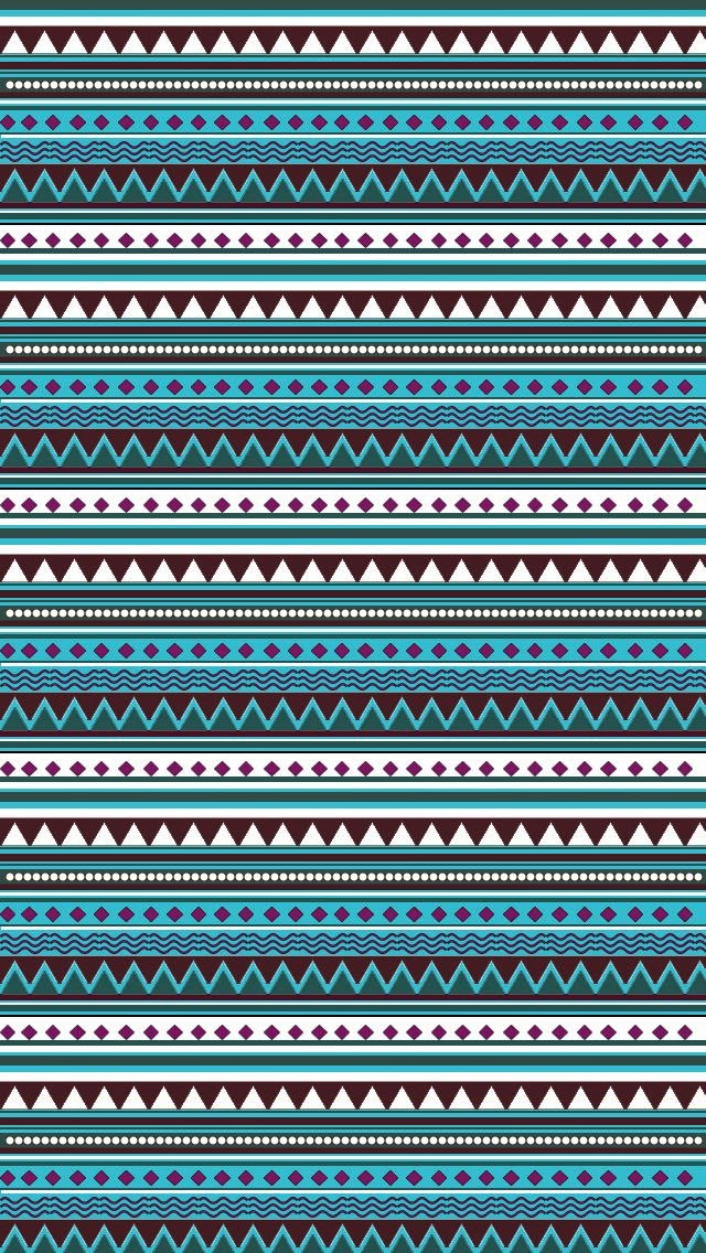 lovedandsign aztec pattern wallpaper