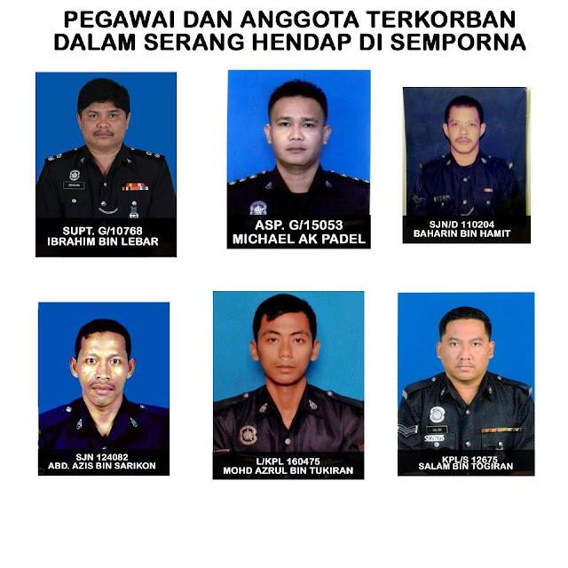 Gambar 6 Anggota Polis Yang Terkorban Di Semporna