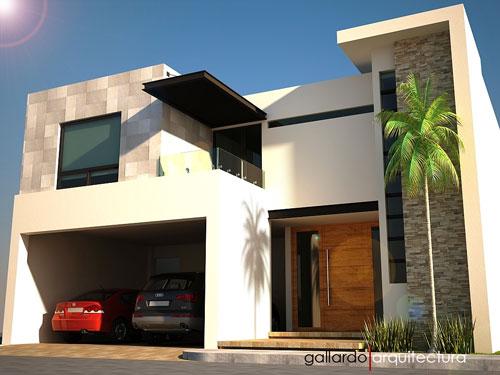 Fachadas de casas modernas enero 2012 for Piedras para fachadas minimalistas