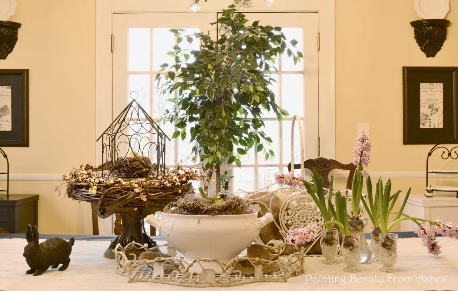 Dining Table Spring Vignette