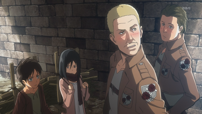 Zdjęcia z anime Shingeki no Kyojin (Attack on Titan).