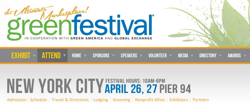 GlutenFreeG Attends Green Festival NY & DC