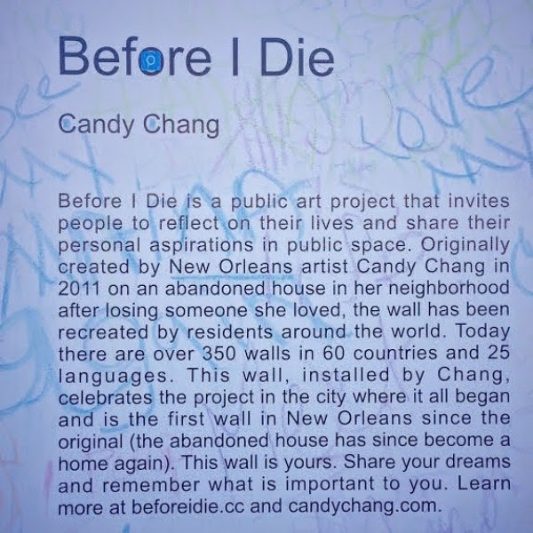Art Installation Before I Die by Candy Chang