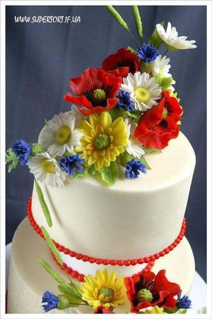 Торт для весілля в українському стилі від Уляни Коцаби, Івано-Франківськ