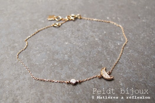 Bracelet Feidt Lune en or 18 carats et diamants