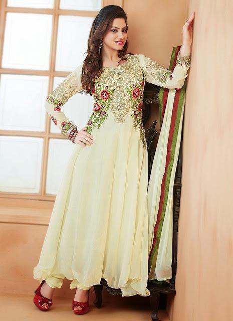 Buy Fancy Designer Semi Georgette Salwar Suit