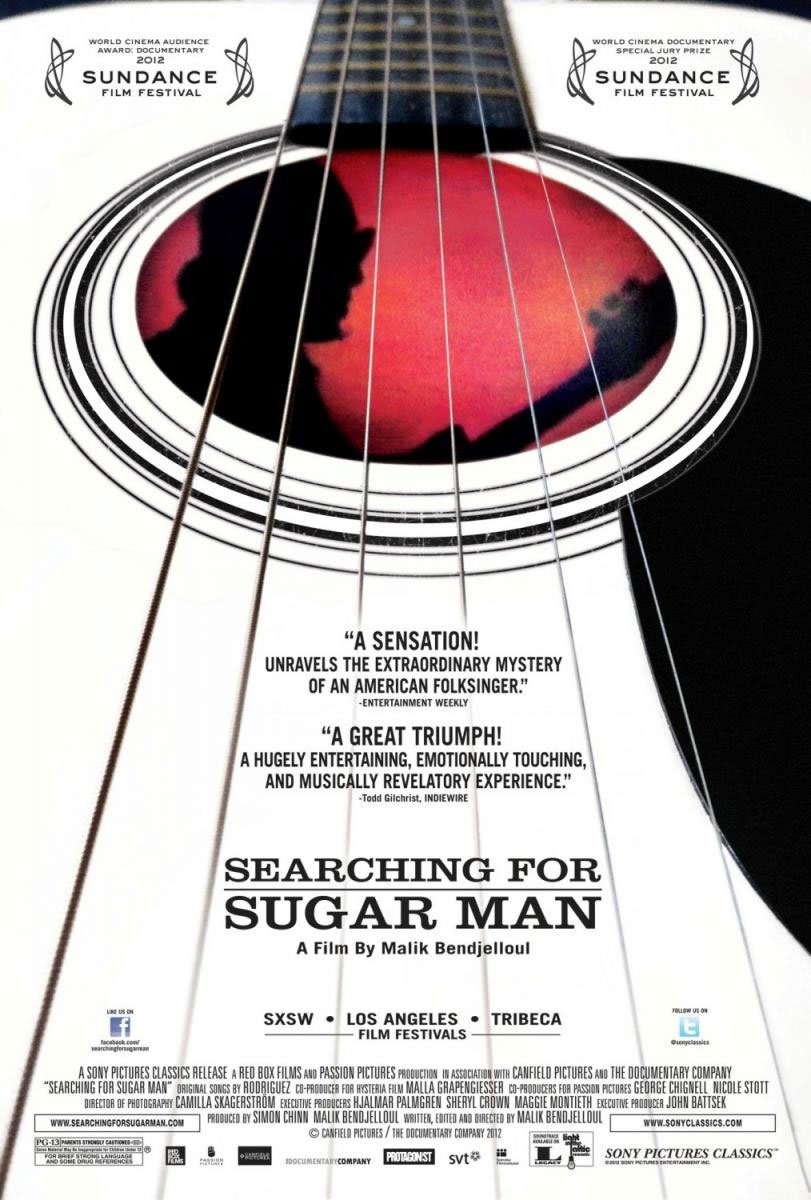 searching for sugar man Malik bendjelloul - 2012 - a poor man in detroit lives out his whole life believing  he failed in his brief musical career in the 1970s then 25 years later, he finds.