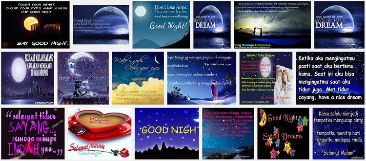 Kata Kata Ucapan Selamat Malam Romantis