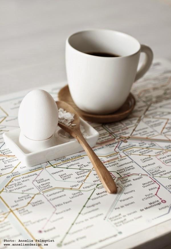 Metro underlägg och äggkoppar
