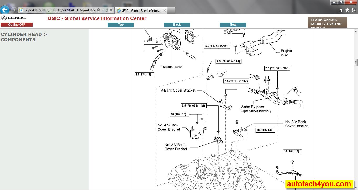 Lexus Gs430  300 Repair Manual  U0635 U064a U0627 U0646 U0629  U0644 U0643 U0632 U0633