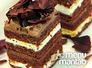 Resep dan cara Membuat Cake Coklat Berlapis