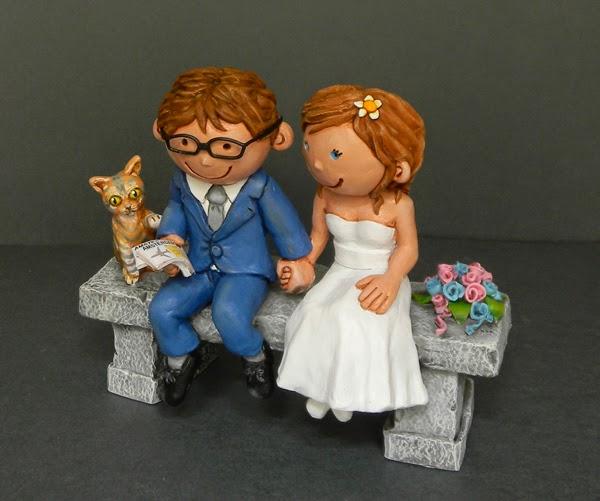 cake topper milano sposi con gattino sposini simpatici regalo orme magiche