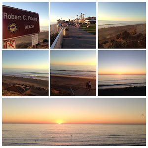 A sunset stroll at the beach in Carlsbad