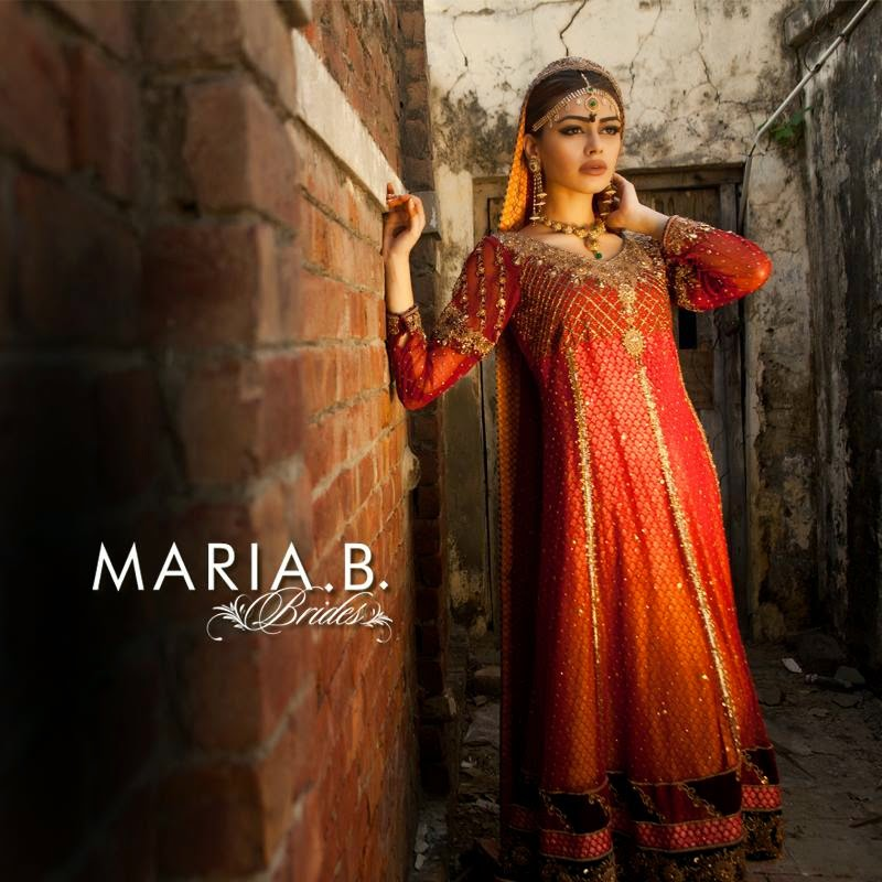 New Designs Of Wedding Dresses For Young Brides By Maria.B From 2015 ...