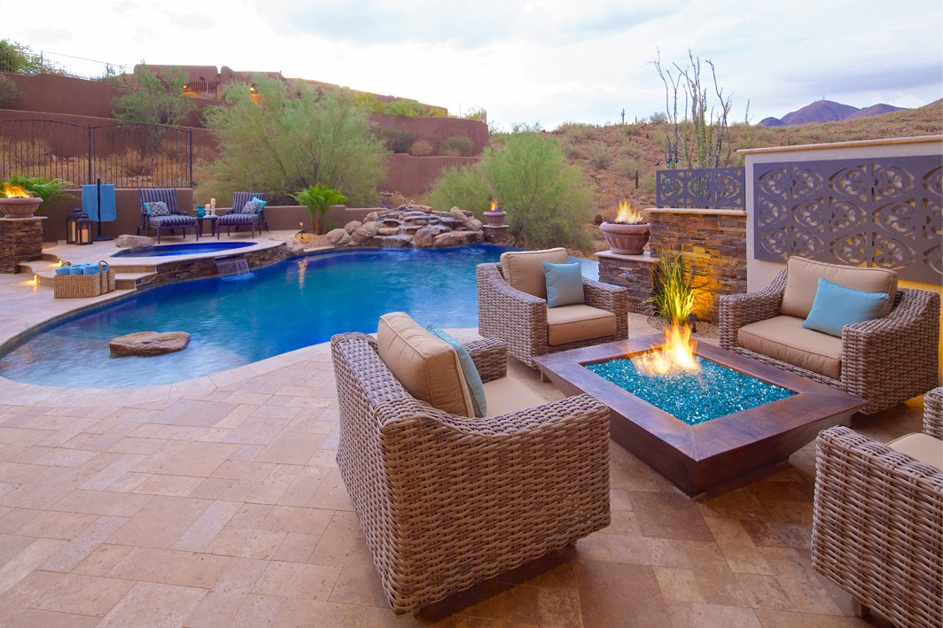 Stunning backyard swimming pool for Pool design az