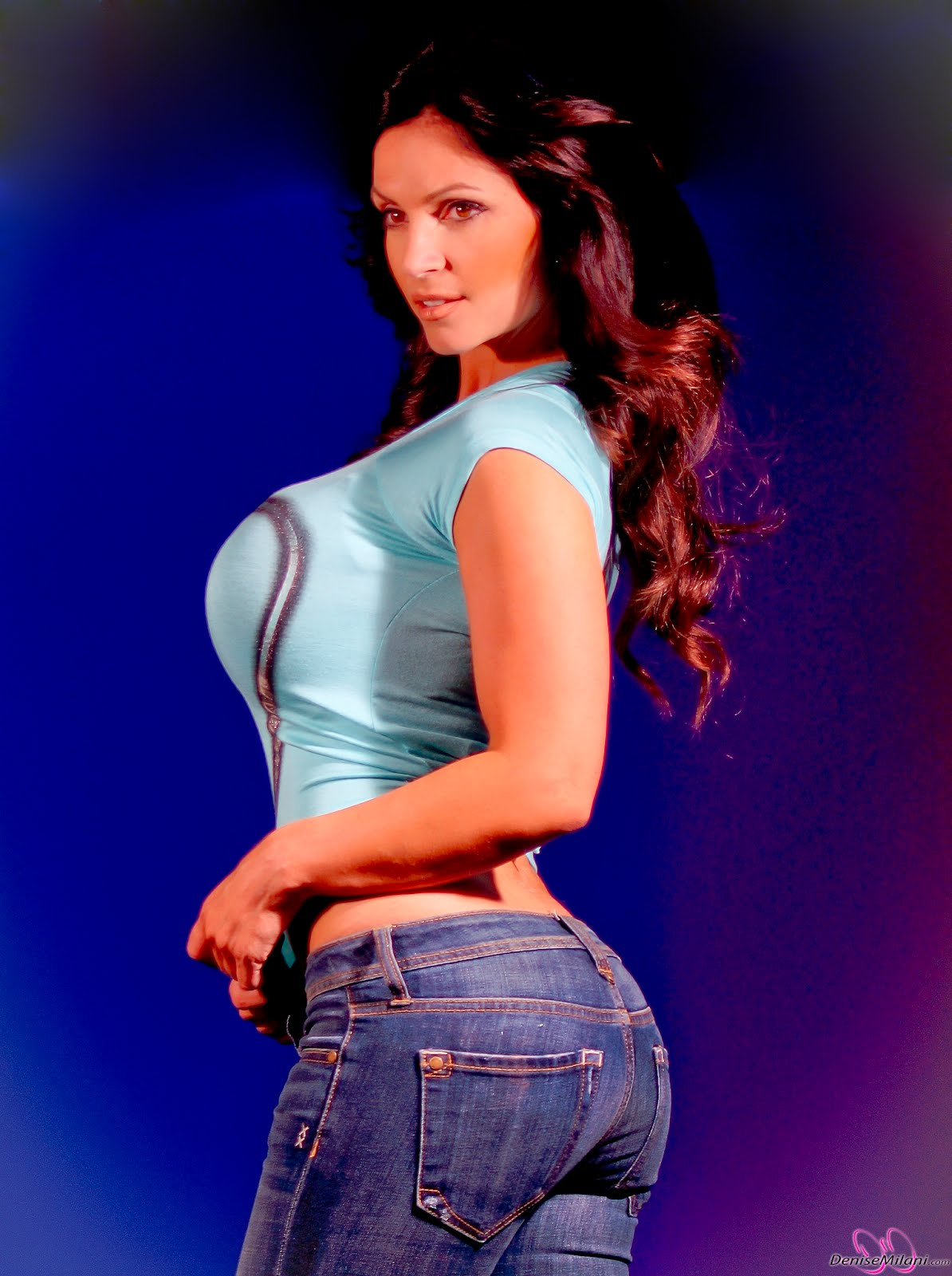 denise milani blue dress - photo #5
