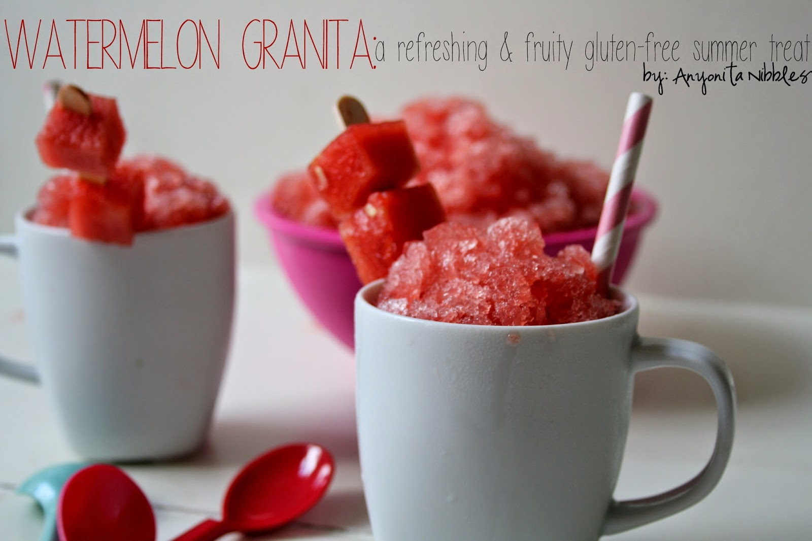 Watermelon Granita: a refreshing and fruity summer treat by Anyonita nibbles