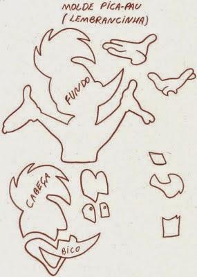 Moldes de e.v.a para festa infantil picapau