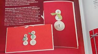 Tarjetas de Navidad con Botones Reciclados