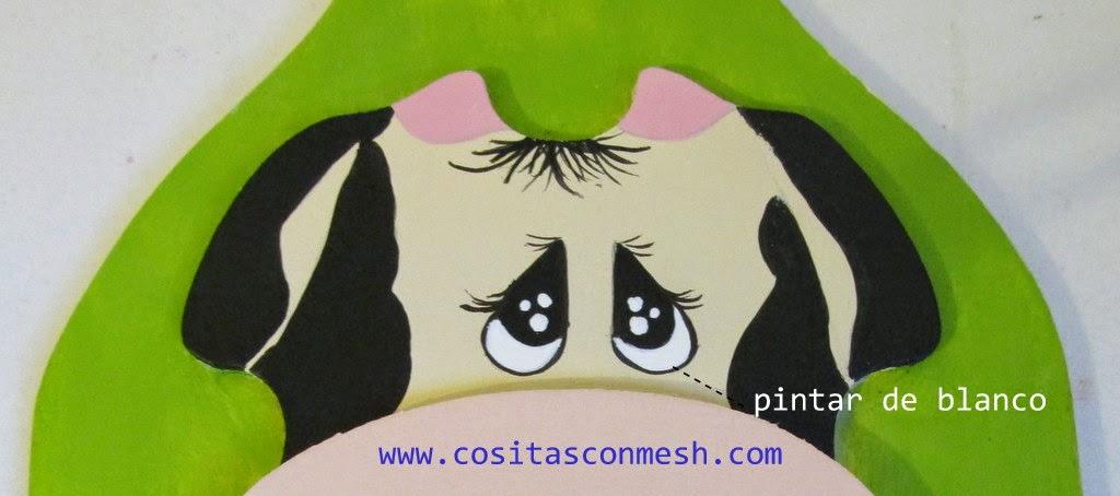 Cómo pintar una vaquita en madera ~ cositasconmesh