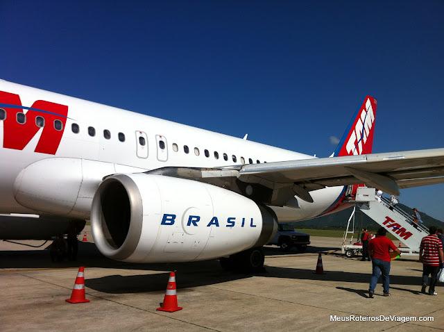 Airbus A320 da TAM em Florianópolis
