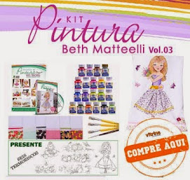 Kit Técnicas em Pintura em Tecido Vol.03 com Beth Matteelli