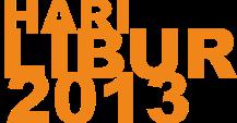 Jadwal Hari Libur Nasional & Cuti Bersama tahun 2013